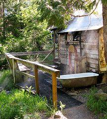 Sweat lodge and cold bath. Heaven. | Backyard sanctuary ...