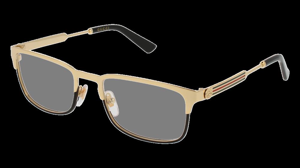 809922969cc Gucci - GG0135O-001 Gold Eyeglasses   Demo Lenses