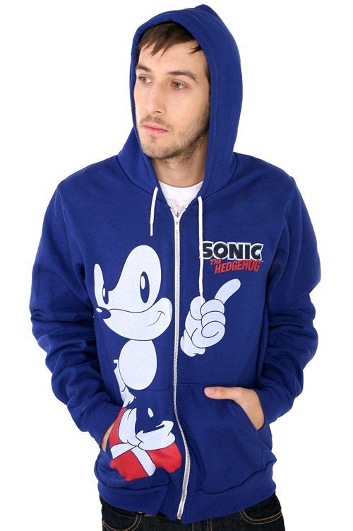 Sonic The Hedgehog Hoodie From Hot Topic I Actually Do Already Own This Product And It S My Favorite Hoodie Ever Hoodies Hoodie Top Gaming Hoodie