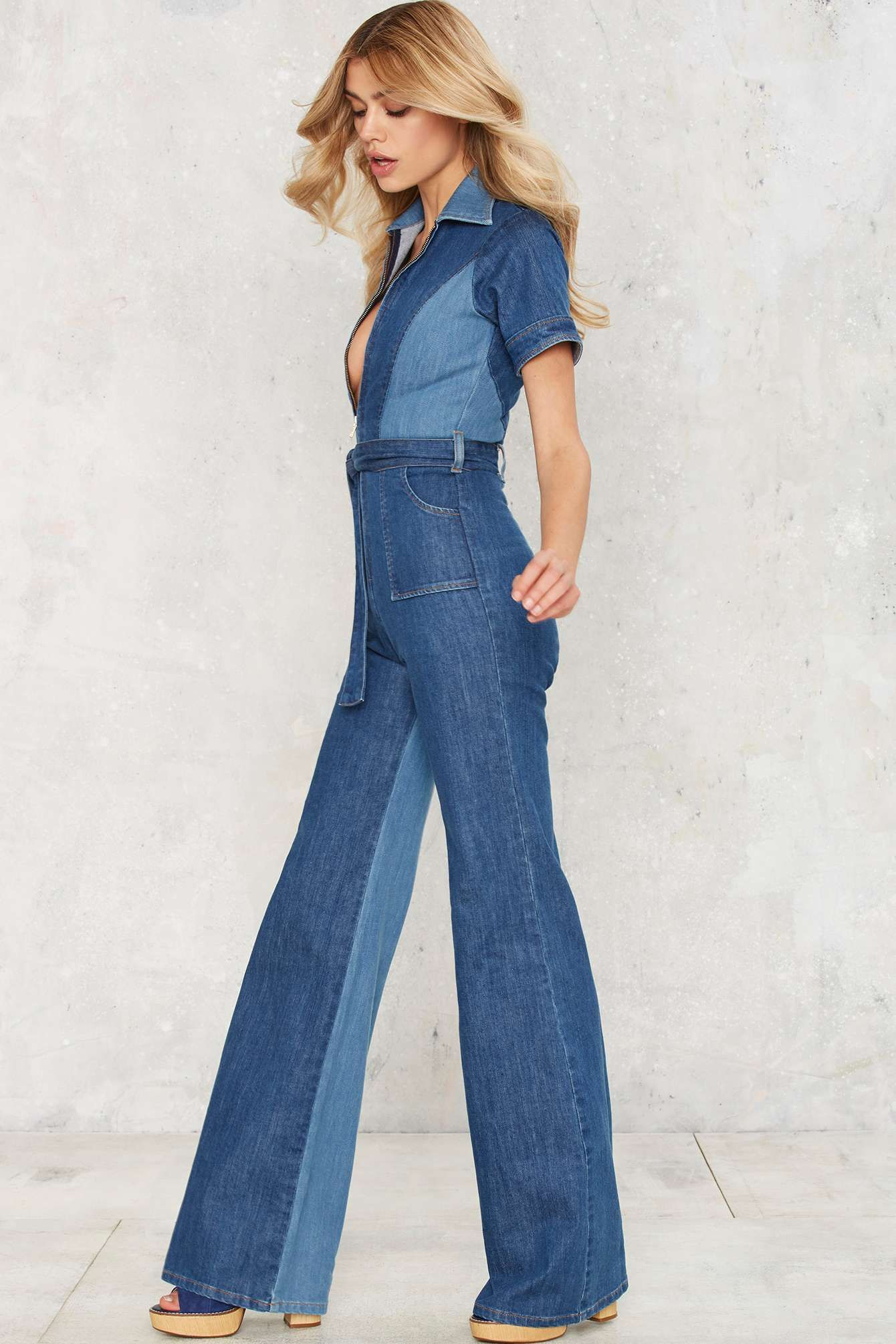 9130d0882 Stoned Immaculate Blue Jean Baby Denim Jumpsuit