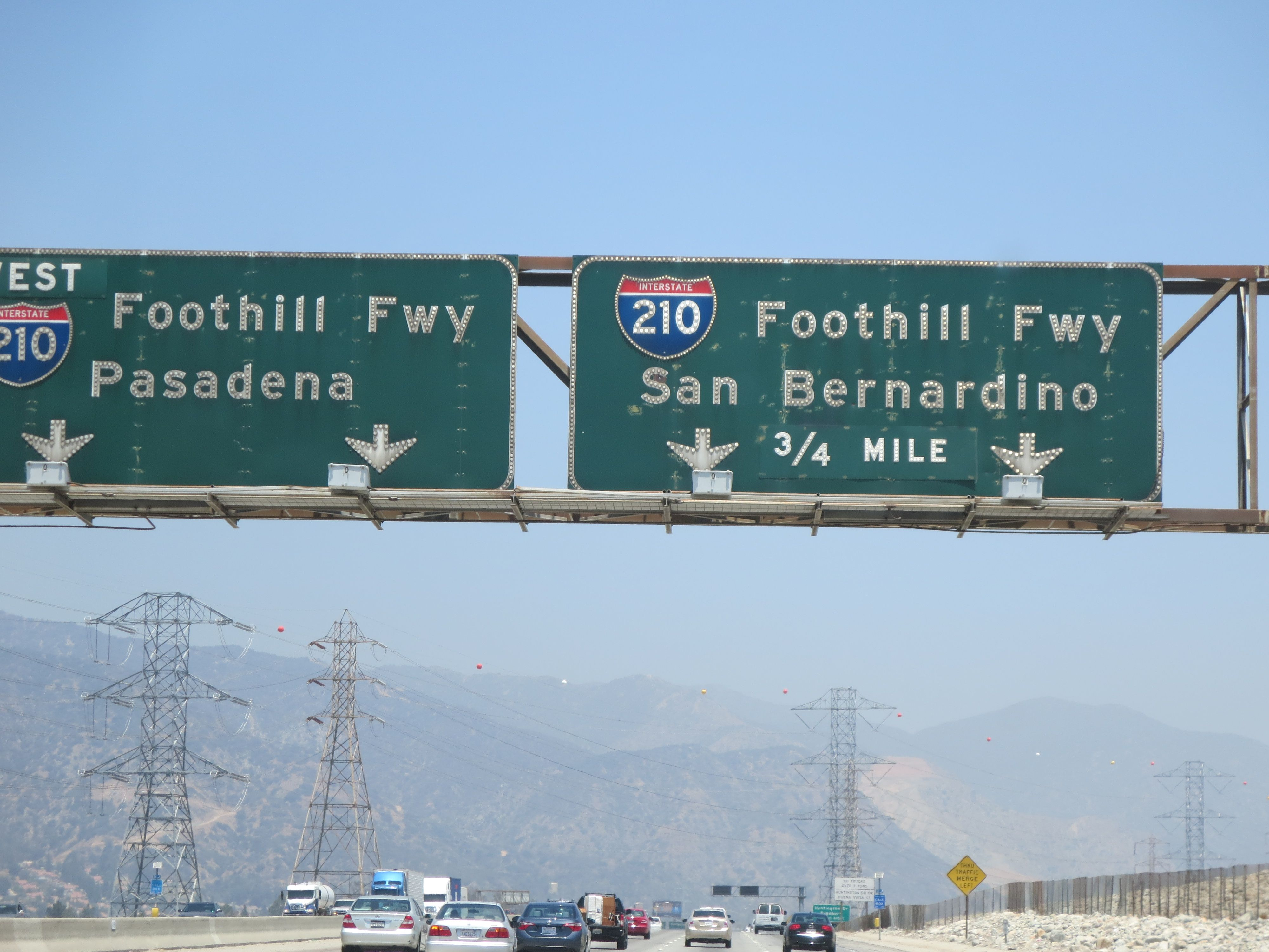 The 605 freeway northbound notice the air quality San