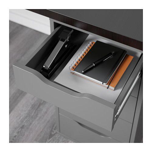 Linnmon Alex Table Black Brown White Ikea Brown Grey Workspace Desk