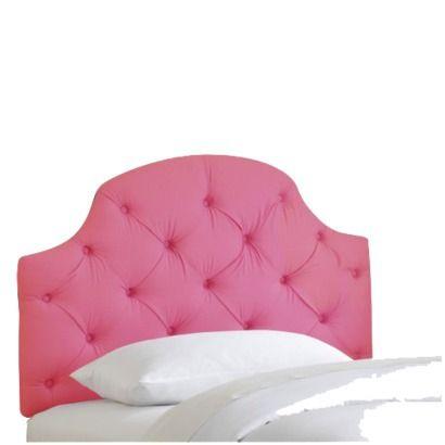 Full Juliette Tufted Kids Headboard Hot Pink Pillowfort Pink