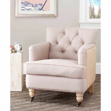 Safavieh Colin Tufted Club Chair Walmart Com In 2020 Tufted