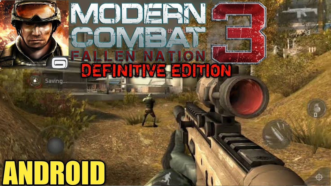 Modern Combat 3 Fallen Nation Definitive Edition Gameplay Redmi Note 9s In 2020 Best Android Games Combat National