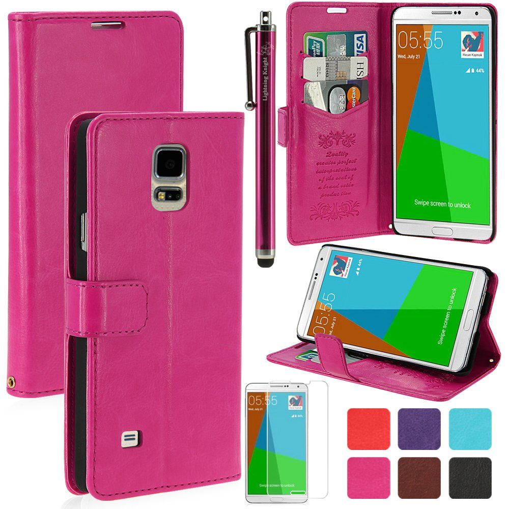 the best attitude 4c97a 3c6dc Amazon.com: LK Samsung Galaxy Note 4 Case - Luxury Wallet PU Leather ...