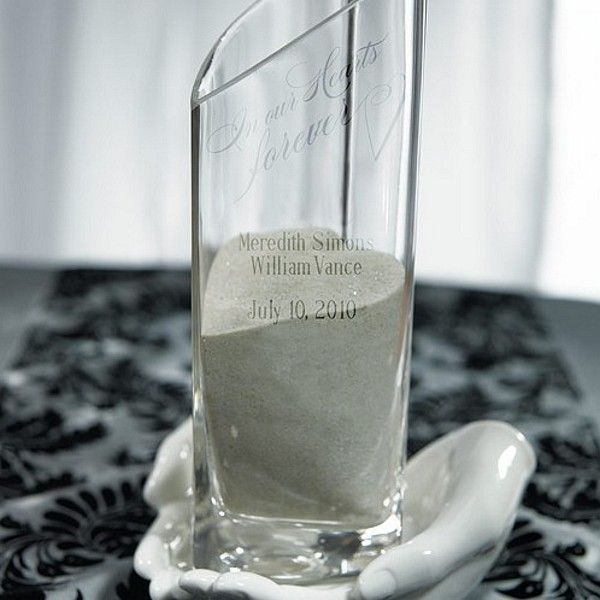Average Cost Of Wedding Gift: Personalized Heart Shaped Glass Memorial Vase With Loving