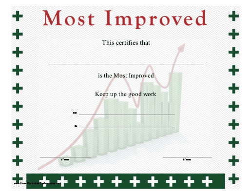 A certificate for the workplace recognizing improvement shows a most improved certificate printable certificate yelopaper Images