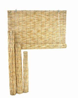 canisse en canne de bambou rideau fin avec poulie 1 8 x 3 m tres qui fait de l 39 ombre. Black Bedroom Furniture Sets. Home Design Ideas