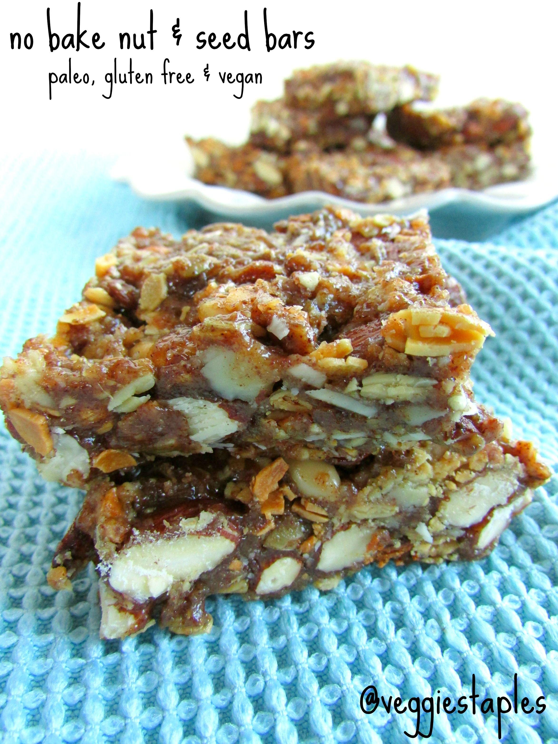 No Bake Nut Seed Bars Veggie Staples Recipe Seed Bars Paleo Nut Bars Paleo Bars