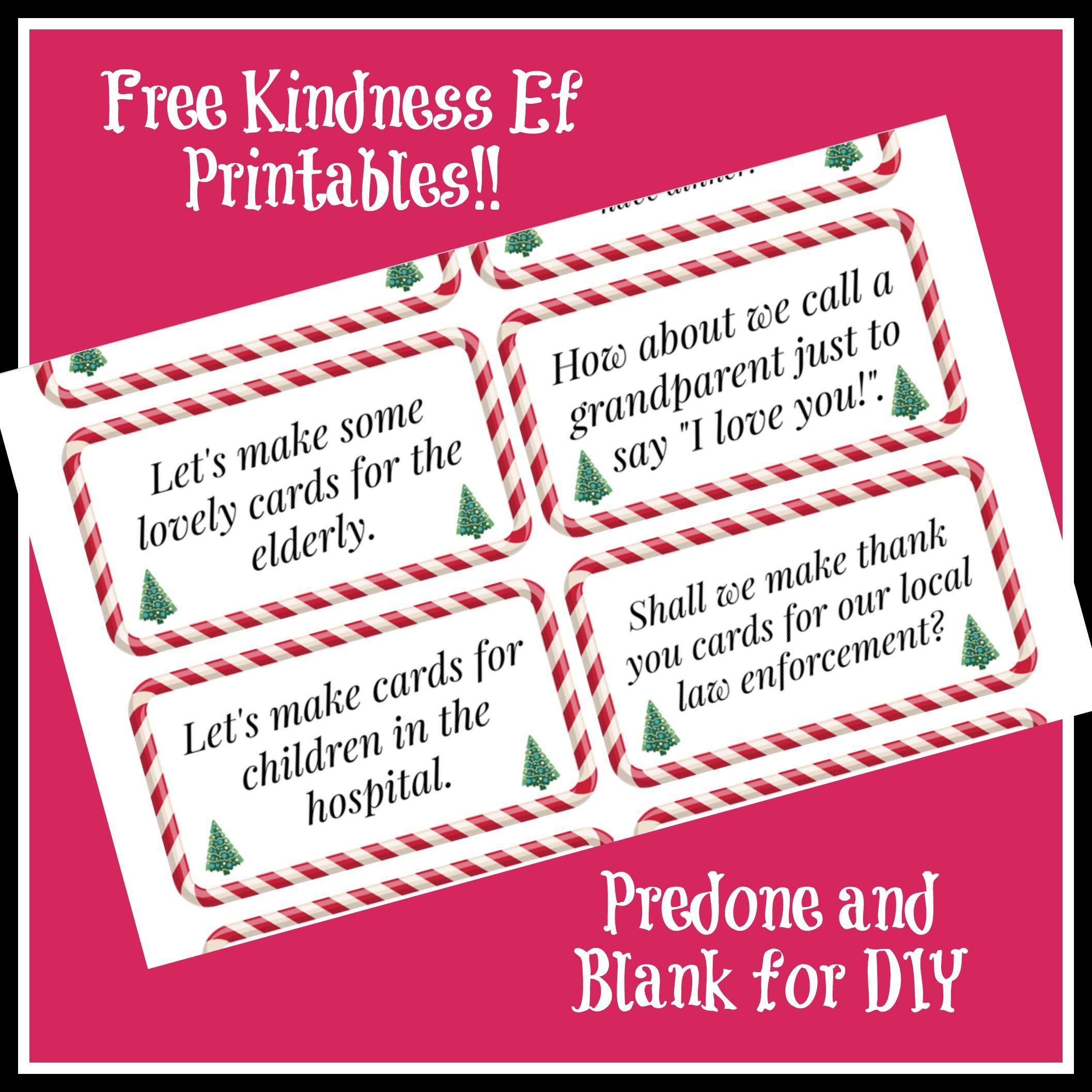 Kindness Elves Ideas Amp Free Printables