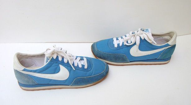 blue 70s nike shoes | Vintage 1970s Nylon Suede Nike Trainer Sneaker Shoe  Waffle Womens 9