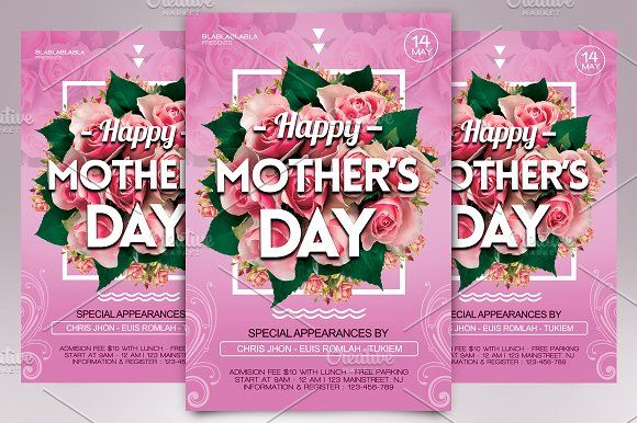 MotherS Day Flyer Template By Gayuma On Creativemarket