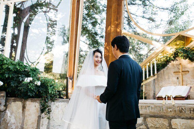 Wayfarers Chapel Wedding Angela Paul Southern California Wedding Photographers California Wedding Chapel Wedding California Wedding Venues
