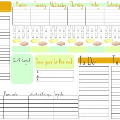 Week-At-A-Glance Free Printable Calendar {Free Printable Calendar - free printable weekly calendar