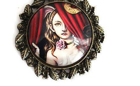 Stage Life Gothic Girl Pendant