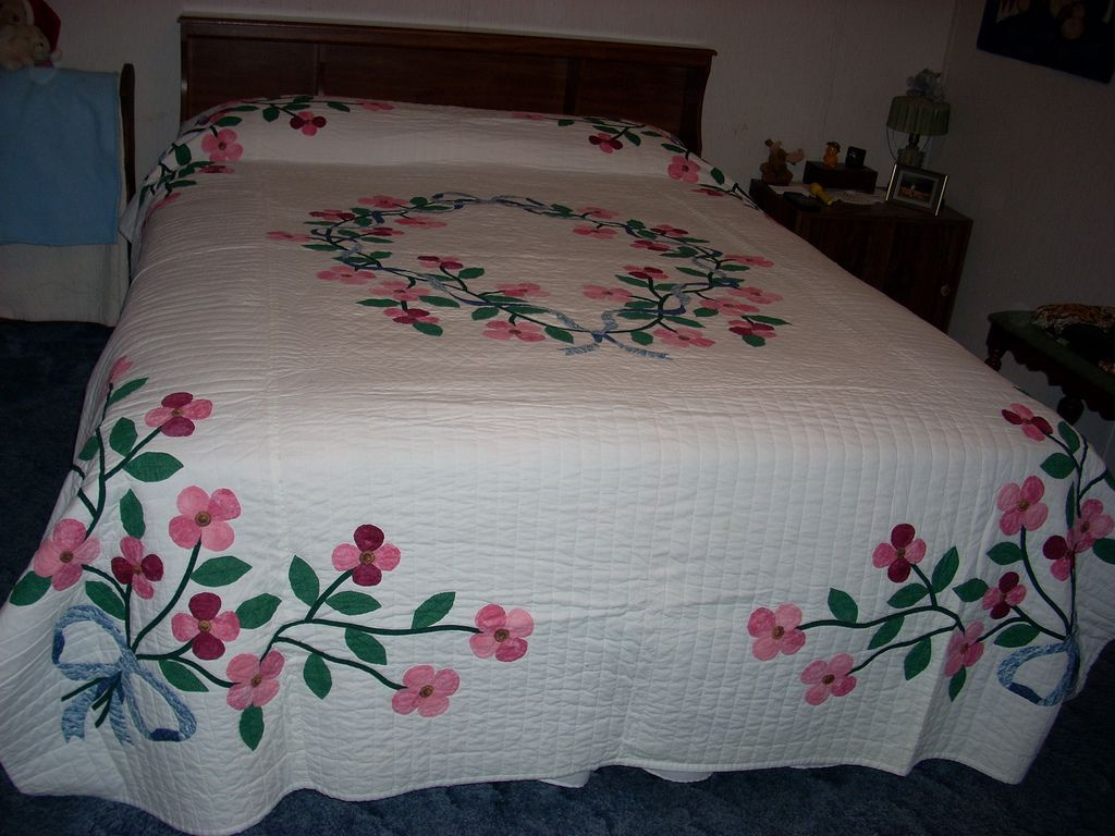 Dogwood Quilt Bed Sheet Painting Design Fabric Paint Designs