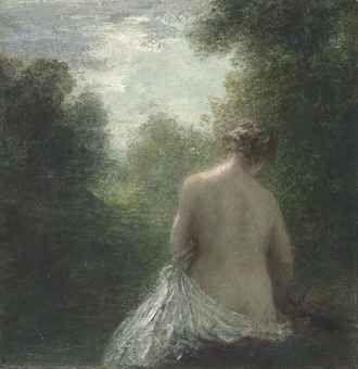 HENRI FANTIN-LATOUR (1836-1904) -Baigneuse assise de dos