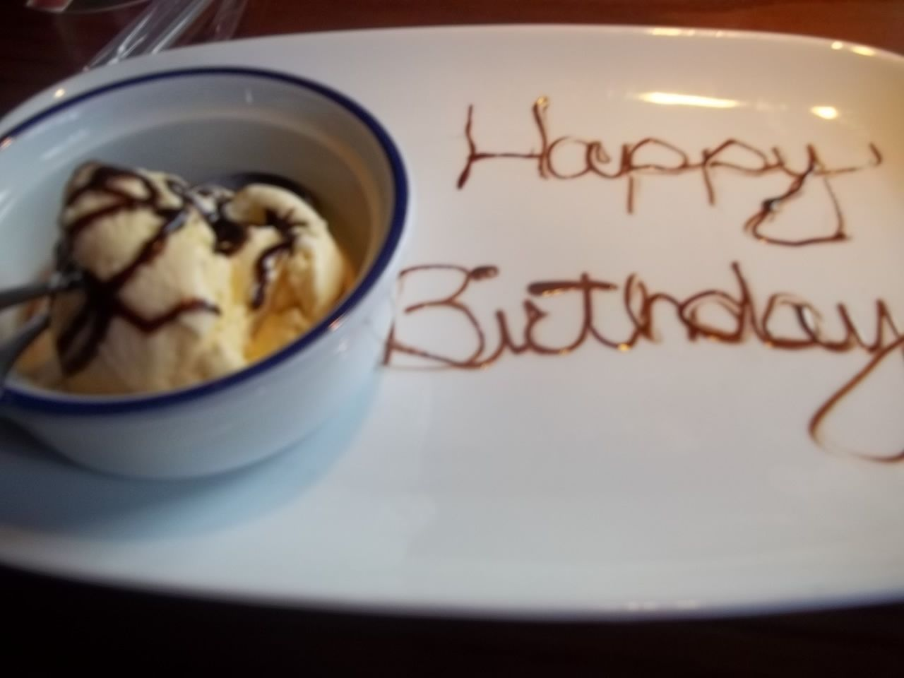 This was my free-ice cream sundae from Red Lobster for my birthday last year!