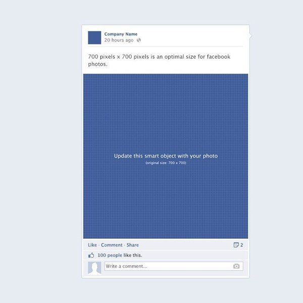 Facebook post template psd design assets pinterest for Facebook app template psd