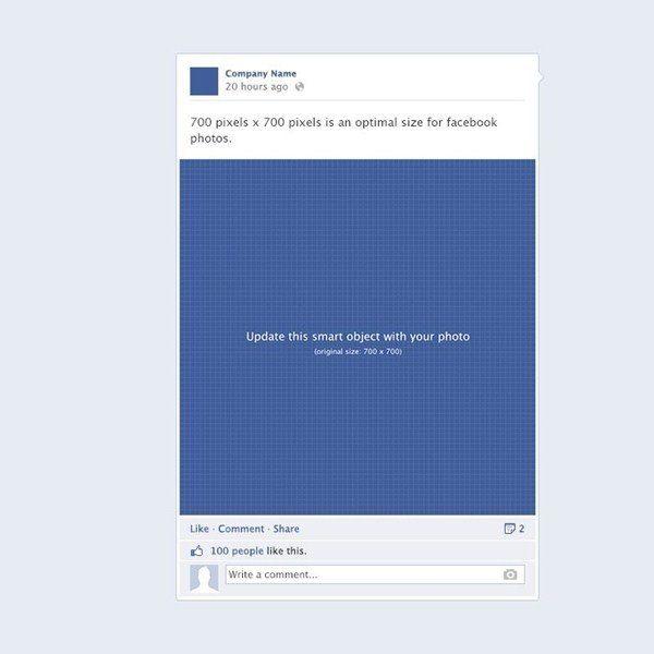 facebook post template psd
