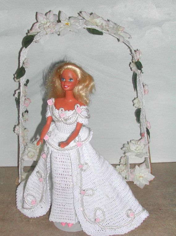 Crochet Fashion Doll Barbie Pattern- #457 EVENING ROSES | Zahlung ...