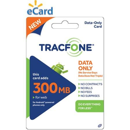 (Email Delivery) TracFone Data Card 300MB $10