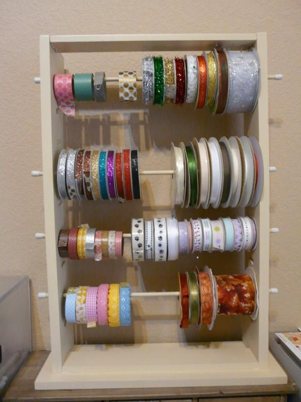 My Modified Ribbon Ladder Diy Craft Room Small Craft Rooms