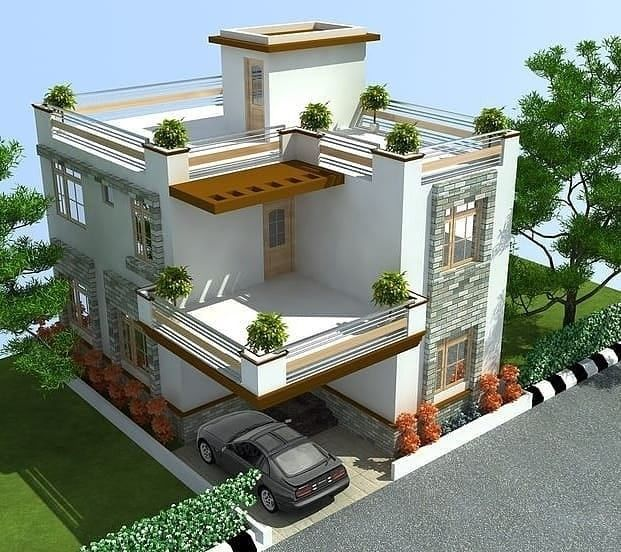 Top 30 Most Beautiful Houses Front Designs To See More Visit In 2020 Duplex House Design Indian Home Design House Interior Design Pictures