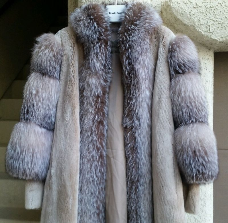 Black Coyote Fur Coat Neiman Marcus >> Details About Crystal Fox Sheared Beaver Fur Women S Plus Size