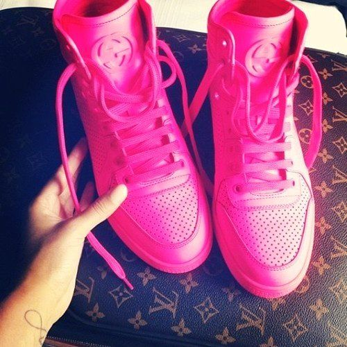 Hot Pink Gucci Sneakers   Tennis shoes