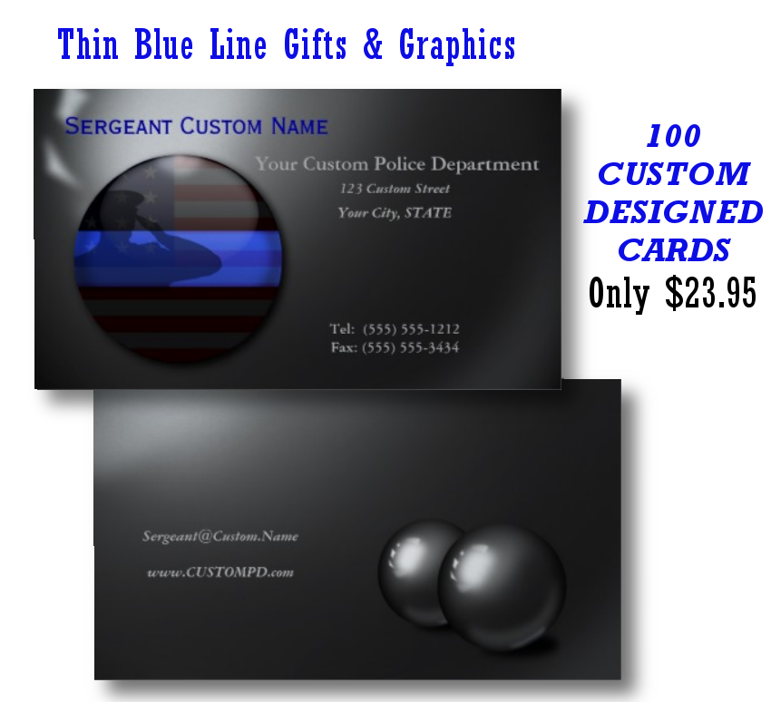 Thin Blue Line - Saluting Balls of Steel Business Card | Business ...