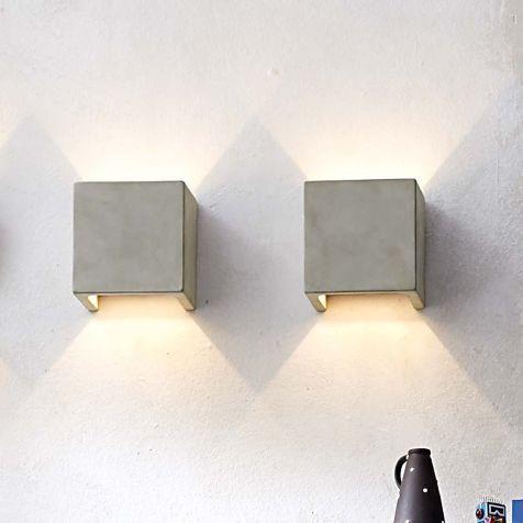 Beton Wandleuchte Versteckte Wandhalterung Wandleuchten Beleuchtung Living Wandleuchte Beleuchtung Lampen