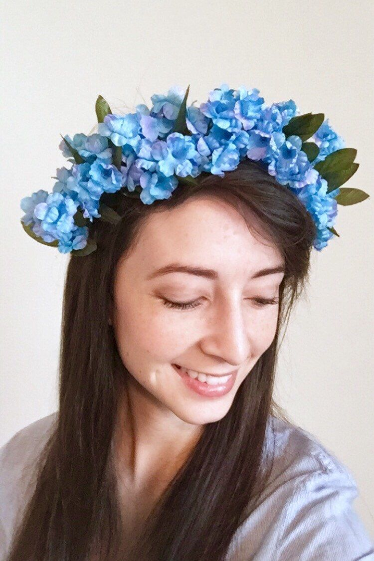 Sky blue flower crown by tinabeanrings on etsy httpsetsy sky blue flower crown by tinabeanrings on etsy httpsetsy izmirmasajfo