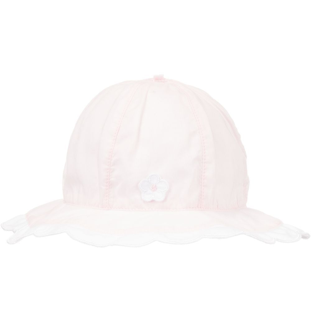 54aff1ff18e Baby Girls Pink Sun Hat for Girl by Emile et Rose. Discover more beautiful  designer Hats for kids online