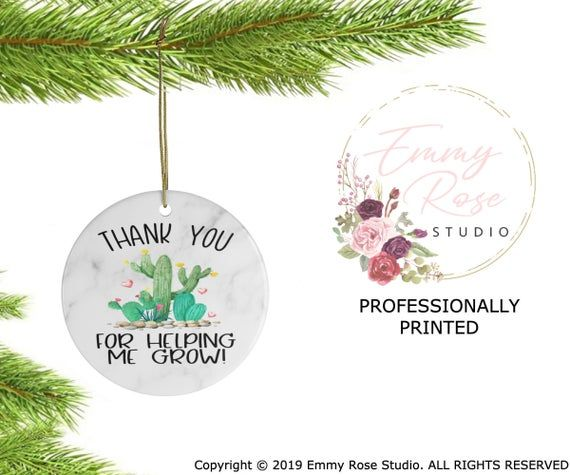 Preschool Teacher Christmas Gift Kindergarten Teacher Christmas ornament thank you gift for Teacher