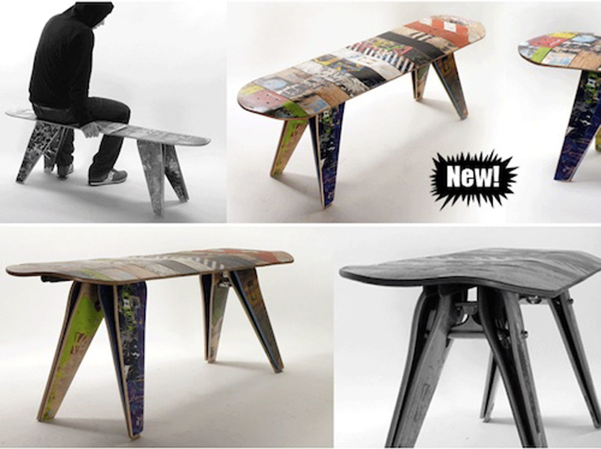 Skateboard Home Decor | youthful recycle skateboard furniture ...