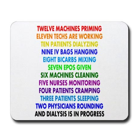 DIALYSIS 12 DAYS OF CHRISTMAS.PNG Mousepad | Dialysis, Dialysis ...
