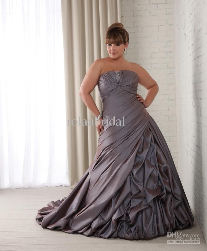 Imagedhgate Albu 317289094 00 10x0 Plus Size 2013 Purple Ruffled Taffeta Bridal