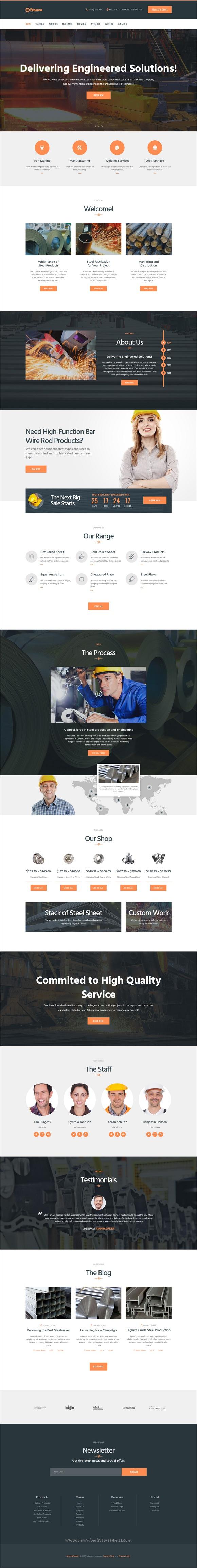 Franco   Steel Factory WP Theme   Wordpress