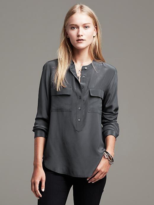 fc331fef71b blouse | Banana Republic | Resort Weekender | Blouse, Silk, Tops