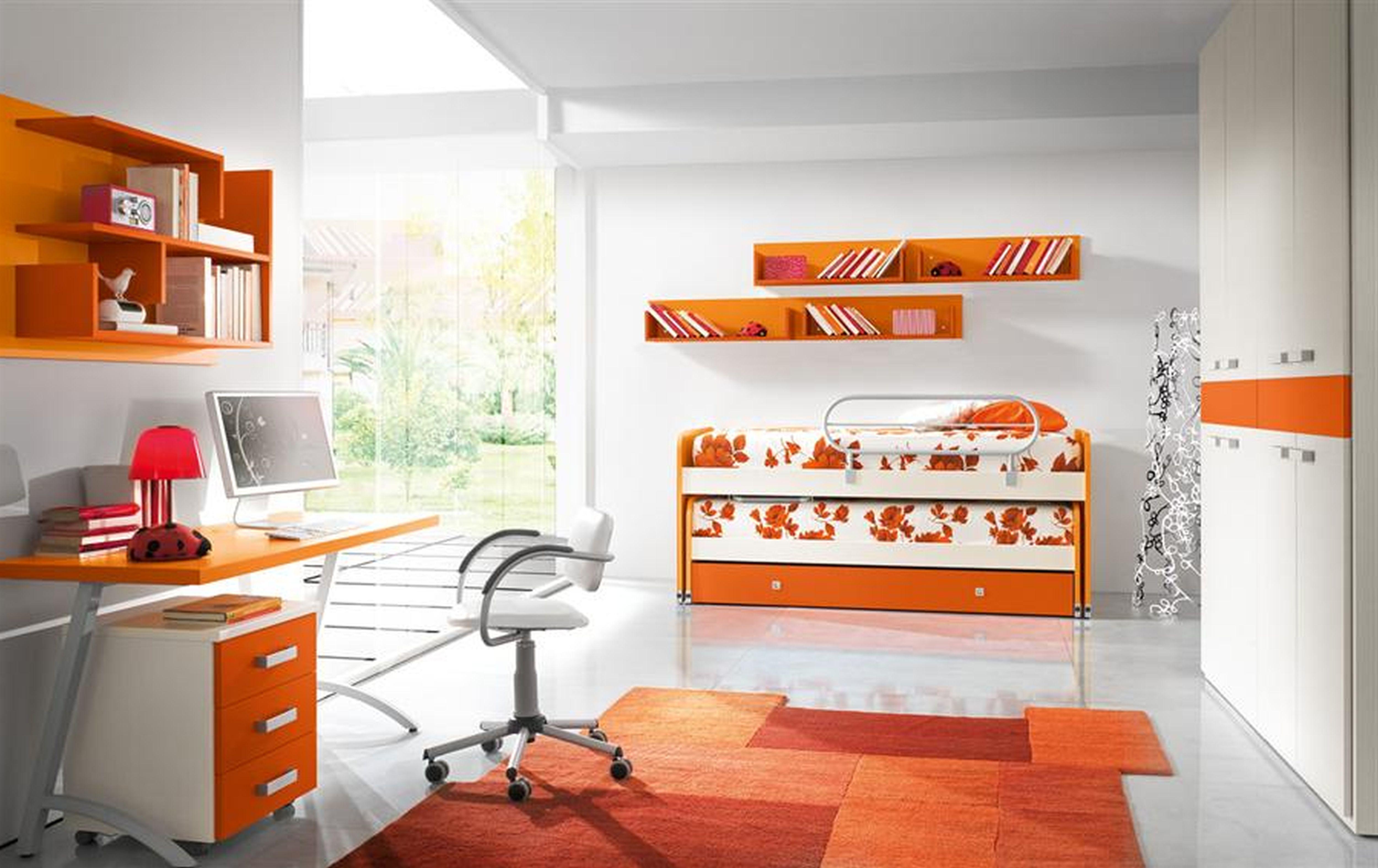 Bedroom Ideas Children S Childrens Orange Bedrooms Colourful Kids