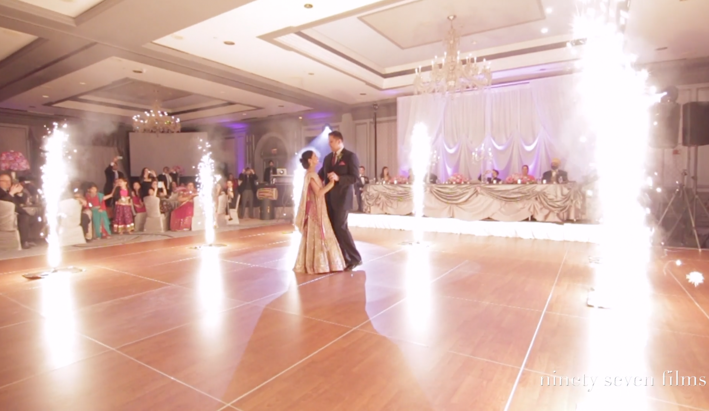 The Dance Floor Sparklers Are Epic In This Wedding Video Dance