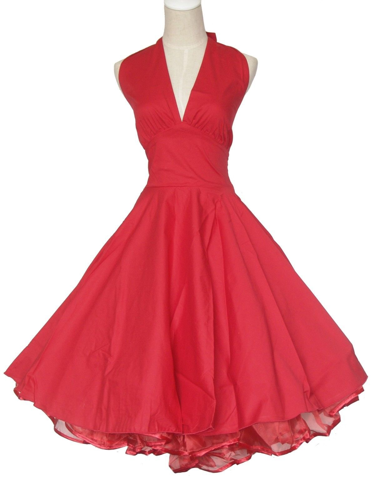 1c00c1e81dac Vintage Dancing Party Ball Prom Swing Jive Rockabilly Dresses Skirt 50s  Cotton S