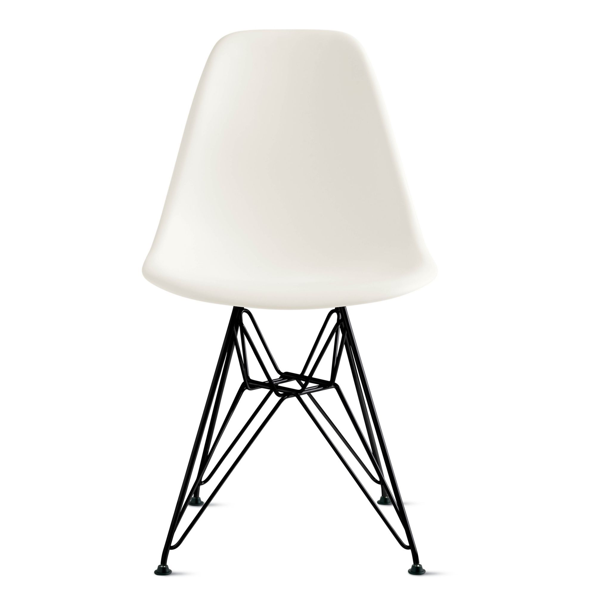 eames molded plastic wirebase side chair dsr