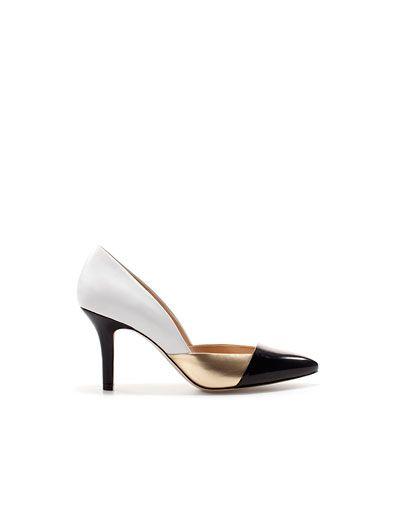 Zara España Salón Zapatos Mujer Tricolor hCsrtQBodx