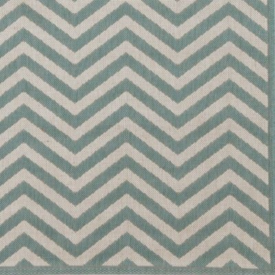 Chevron Stripe Indoor Outdoor Rug Mineral Ivory Ballard Designs