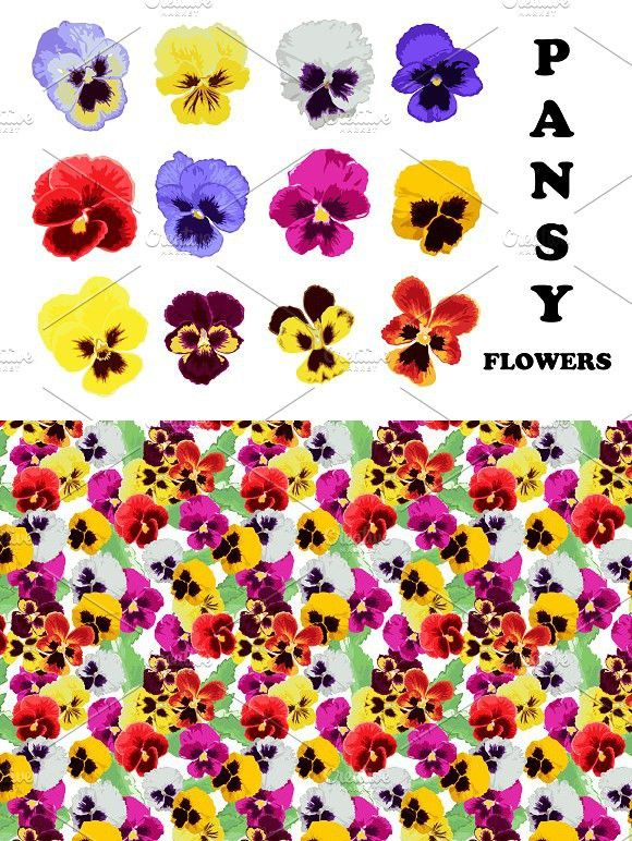 Pansy Flowers. Wedding Card Templates. $5.00