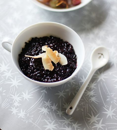 Recipe: Coconut Black Rice Pudding Recipes From The Kitchn | The Kitchn I made this and served it with mango - absolutely amazing, and apparently fairly good for you too!!
