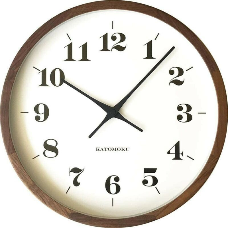New Katomoku 4mh440mc01 Muku Round Wall Clock 12 Walnut Radio Clock From Japan Wall Clocks Ebay Link